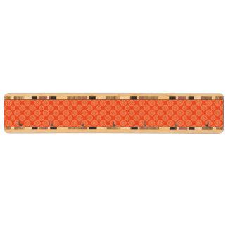 花の円パターンが付いている明るいオレンジパターン キーラック