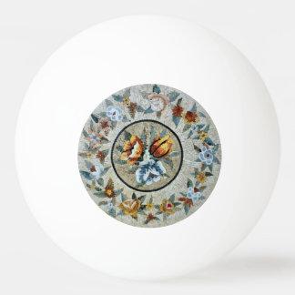 花の円形の円形浮彫りの装飾の大理石のモザイク 卓球ボール