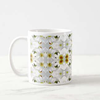 花の写実的なパターン設計 コーヒーマグカップ