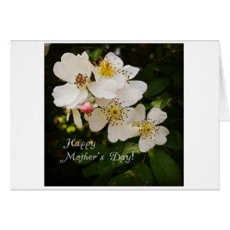花の写真が付いている母の日カード カード