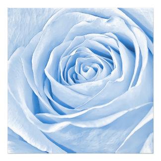 花の写真の可憐な淡いブルーは上がりました フォトプリント