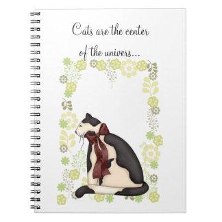 花の写真を持つ子猫猫 ノートブック