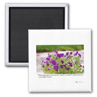 花の写真(パンジー)のギフト及び収集品 マグネット