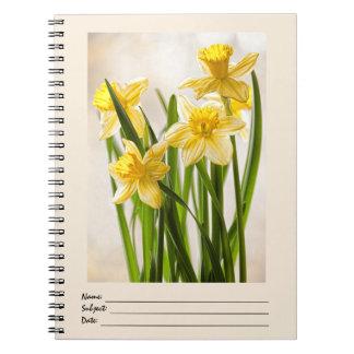 花の写真:  黄色い春のラッパスイセン ノートブック