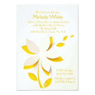 花の切り出しの招待状 カード