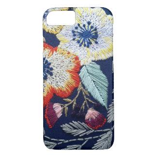 花の刺繍 iPhone 8/7ケース
