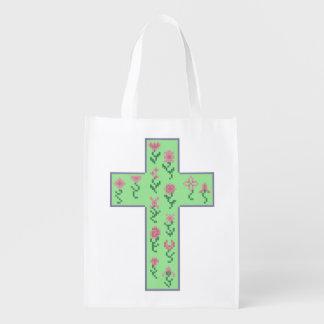 花の十字 エコバッグ
