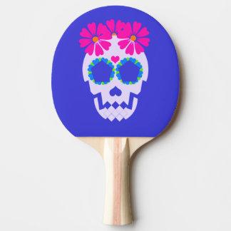 花の卓球ラケットが付いているスカル 卓球ラケット