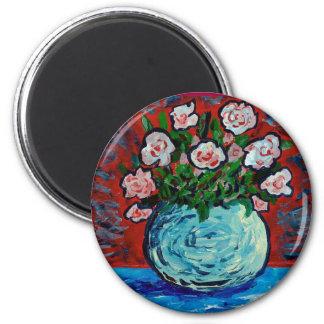 花の印象派の芸術の花束 マグネット