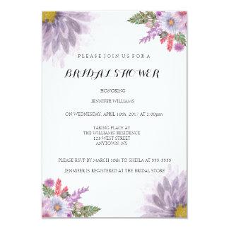 花の原稿のブライダルシャワー招待状 カード