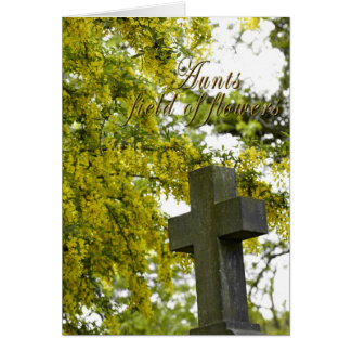 花の叔母さん分野、悔やみや弔慰カード カード
