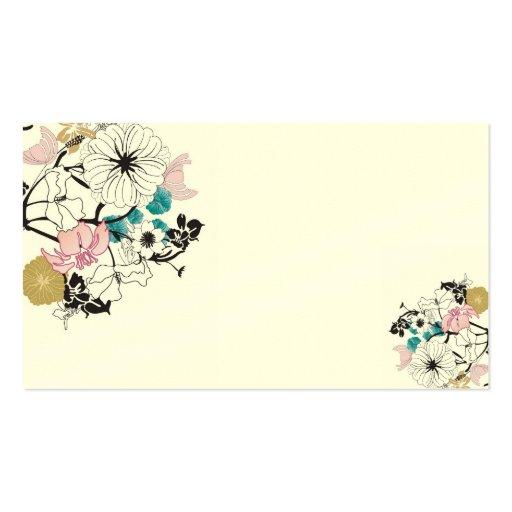 花の名刺 名刺テンプレート ...