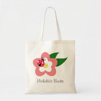 花の名前をカスタムするのランドセルのてんとう虫 トートバッグ
