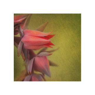 花の壁の装飾 ウッドウォールアート