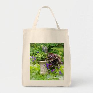 花の壷の食料雑貨のトート トートバッグ
