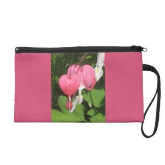 花の大げさに同情する人のピンクのサテンの生地のリストレット リストレット