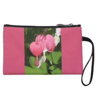 花の大げさに同情する人のピンクの小型クラッチ・バッグ クラッチ