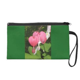 花の大げさに同情する人の緑のサテンの生地のリストレット リストレット