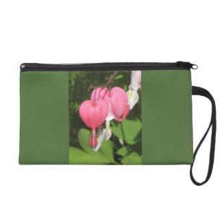 花の大げさに同情する人-サテンの生地のリストレットのバッグ リストレット