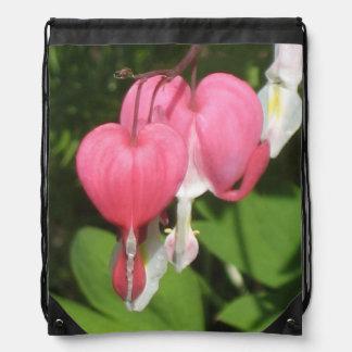 花の大げさに同情する人-ドローストリングのバックパック ナップサック
