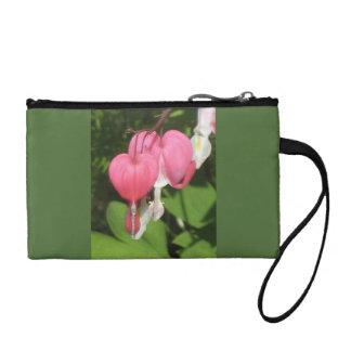 花の大げさに同情する人-主硬貨のクラッチ・バッグ コインパース