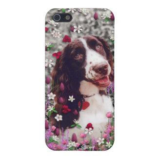 花の女性-ブリッタニースパニエル犬犬 iPhone 5 COVER