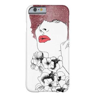 花の女性 BARELY THERE iPhone 6 ケース