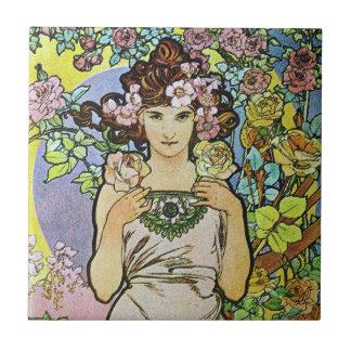 花の女神 タイル