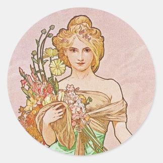 花の女神 ラウンドシール