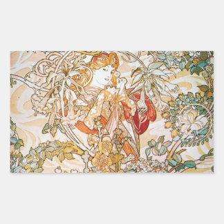 花の女神 長方形シール