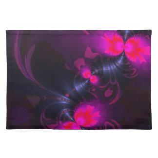 花の妖精-マゼンタのかわいらしいリボンは上がり、 ランチョンマット