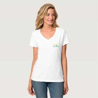 花の姿勢のロゴのTシャツ(猫の姿勢) Tシャツ
