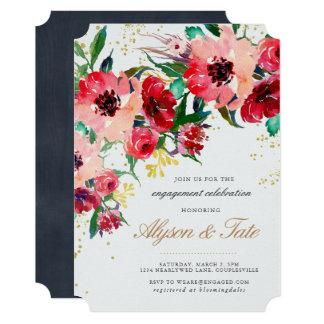 花の婚約の招待状 12.7 X 17.8 インビテーションカード