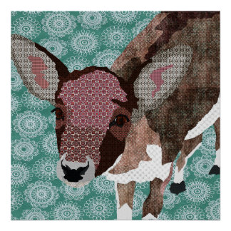 花の子鹿の芸術ポスター ポスター