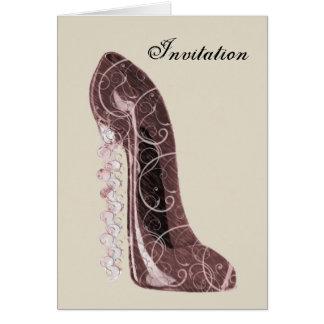 花の小剣の靴の芸術 グリーティングカード