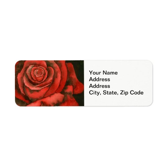 花の差出人住所ラベルは、上がりました 返信用宛名ラベル