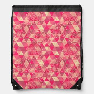 花の幾何学的なパターン ナップサック