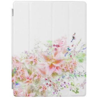 花の庭の水彩画Iのパッドの箱 iPadスマートカバー