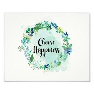花の引用文のプリント、感動的な引用文の水彩画 フォトプリント