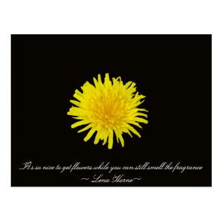 花の引用文 ポストカード