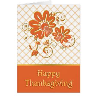 花の感謝祭カード カード