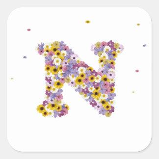 花の手紙N スクエアシール