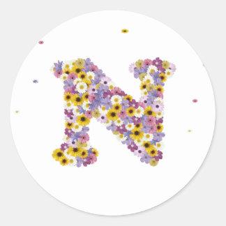 花の手紙N ラウンドシール