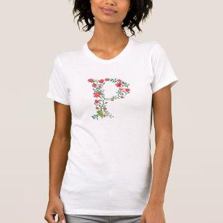 花の手紙Pのモノグラム Tシャツ