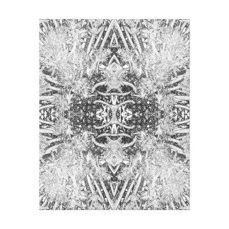 花の抽象的概念 キャンバスプリント