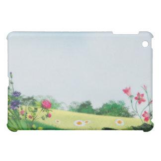 花の明るい夏分野 iPad MINIケース