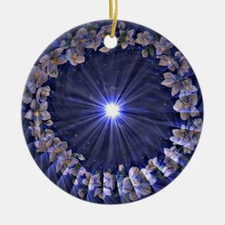 花の星座のオーナメント 陶器製丸型オーナメント