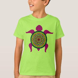 花の星破烈の目まぐるしい曼荼羅のカメ Tシャツ