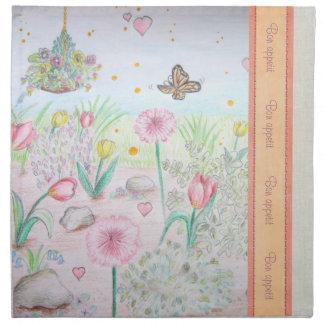 花の春の庭 ナプキンクロス