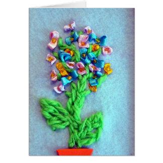花の春の花束 カード